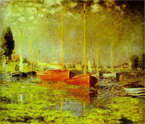 Claude Monet - rote boote , argenteuil
