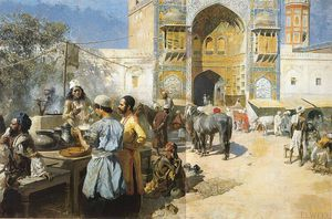 Edwin Lord Weeks - Ein Open-Air Restaurant Lahore