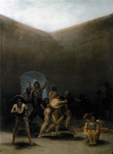 Francisco De Goya - The Yard eines Madhouse