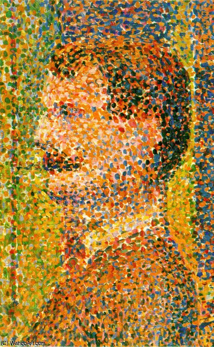 Parade de cirque (Detail) -, 1888 von Georges Pierre Seurat (1859-1891, France)
