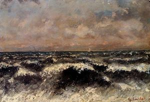 Gustave Courbet - meer