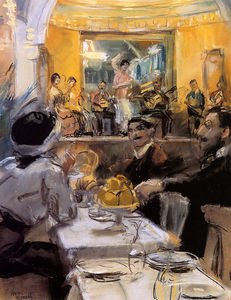 Isaac Lazarus Israels - Cafe chantant Gruppe La Feria Sun