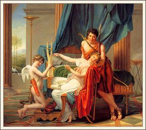 Jacques Louis David - Sappho und Phaon