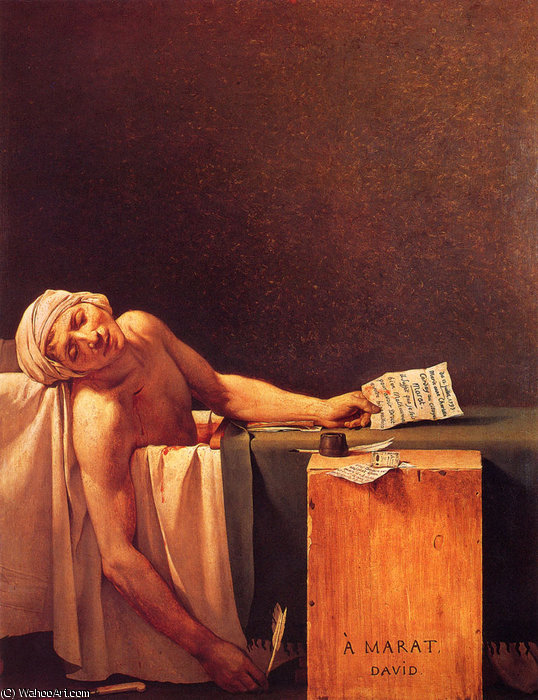 der tod von marat von Jacques Louis David (1748-1800, France)