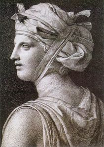 Jacques Louis David - Frau in einer Turban
