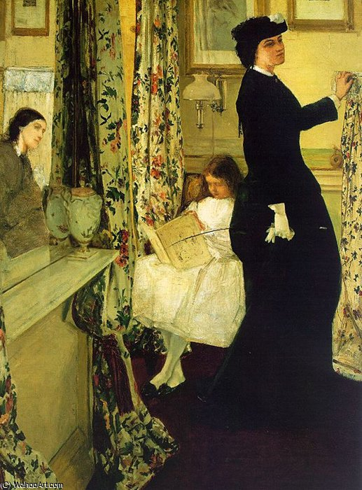 harmonie in grün und rose der  Musik  Gelass  von James Abbott Mcneill Whistler (1834-1903, United States)