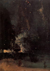 James Abbott Mcneill Whistler - Nocturne in Schwarz-und Gold The Falling Rakete