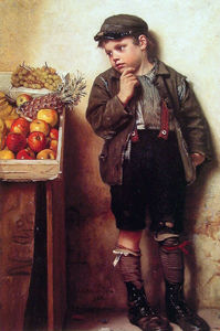 John George Brown - Beäugte den Obststand