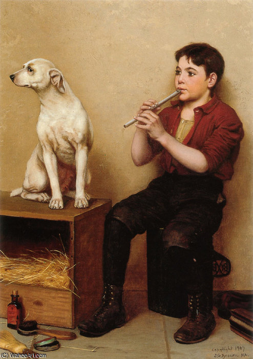 Musik Hath No Charms von John George Brown (1831-1913, United Kingdom)