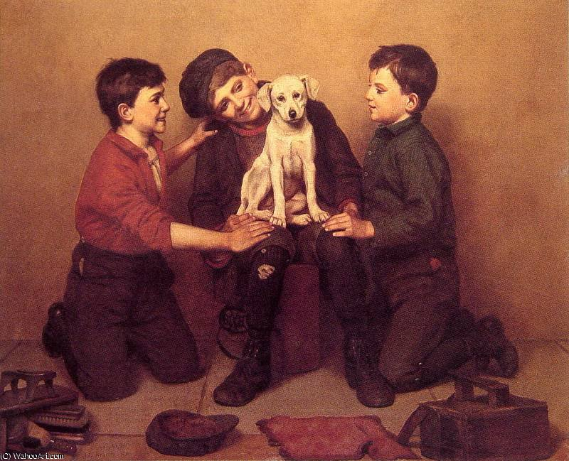 Das Findelkind von John George Brown (1831-1913, United Kingdom) | WahooArt.com