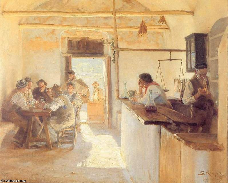 taberna de ravello, 1890 von Peder Severin Kroyer (1851-1909, Norway)