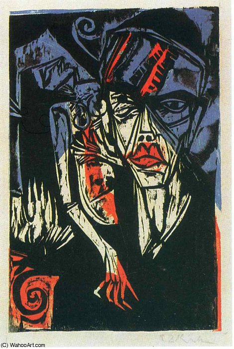 Untitled (337) von Ernst Ludwig Kirchner (1880-1938, Germany) | WahooArt.com