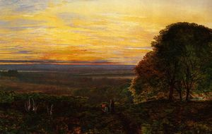 John Atkinson Grimshaw - sonnenuntergang von chilworth common , Hampshire