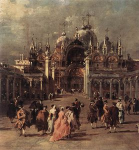 Francesco Lazzaro Guardi - piazza di san marco ( ausschnitt )