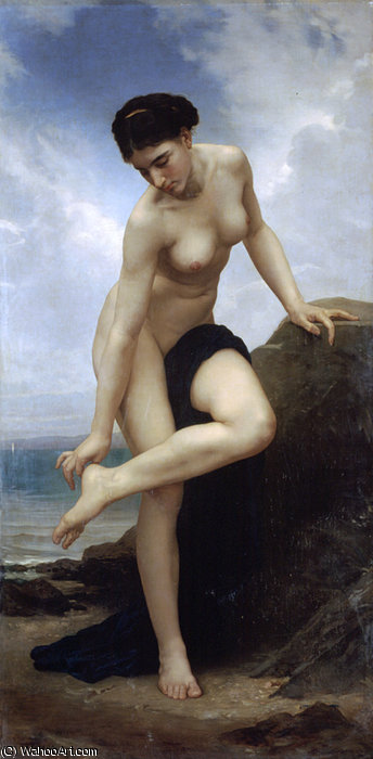 Apres le bain, 1875 von William Adolphe Bouguereau (1825-1905, France)