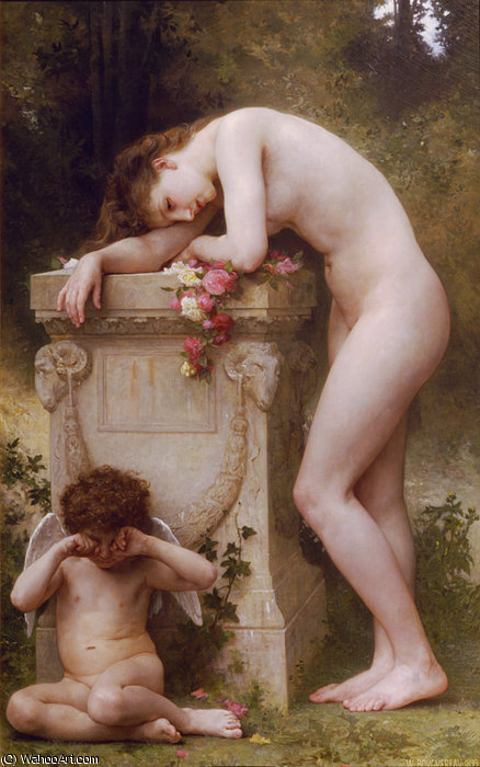 Douleur damour von William Adolphe Bouguereau (1825-1905, France)