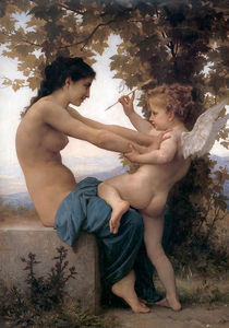 William Adolphe Bouguereau - Jeune fille se angeklagte contre lamour