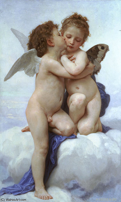 LAmour et Psyche enfants von William Adolphe Bouguereau (1825-1905, France)