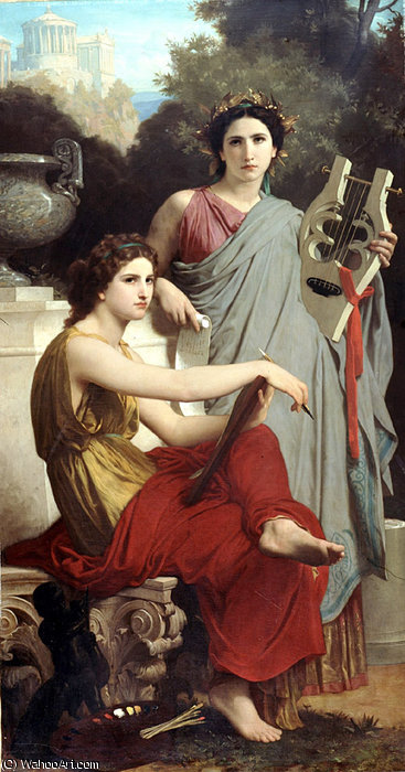 Lart et la litterature von William Adolphe Bouguereau (1825-1905, France)