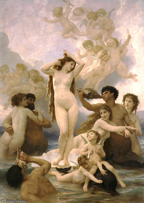 Naissance von Venus von William Adolphe Bouguereau (1825-1905, France) | WahooArt.com