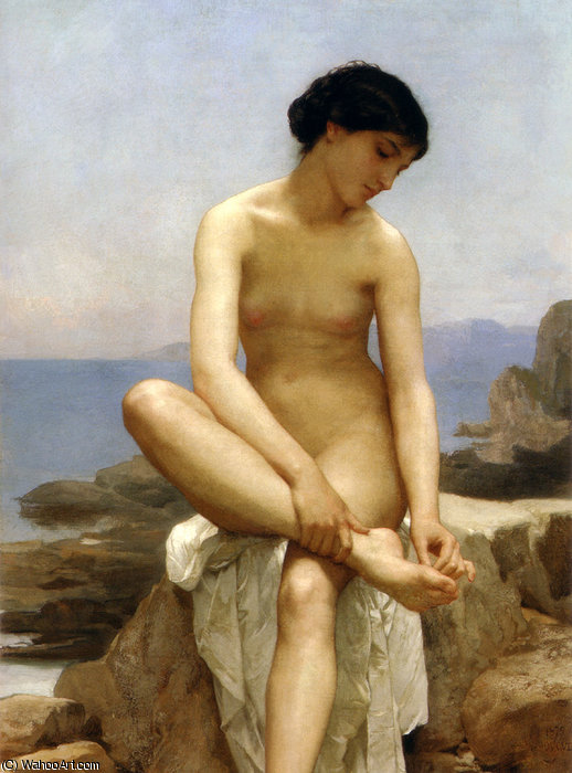 thebather, 1879 von William Adolphe Bouguereau (1825-1905, France)