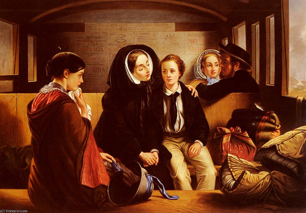 SECOND_CLASS THE_PARTING von Abraham Solomon (1823-1862, United Kingdom) | WahooArt.com