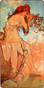 Alfons Maria Mucha - Sommer Fach