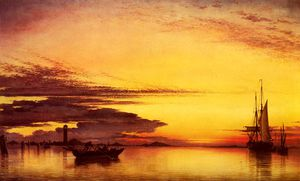 Edward William Cooke - Sonnenuntergang auf die lagune venedig