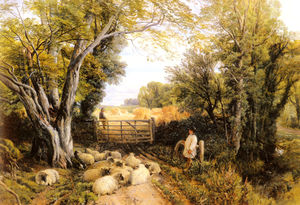 Frederick William Hulme - landschaft in Striemen