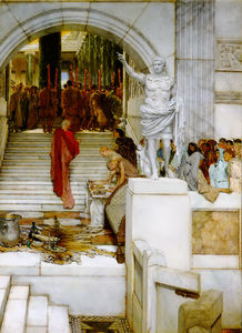 Lawrence Alma-Tadema - Nach der Audienz