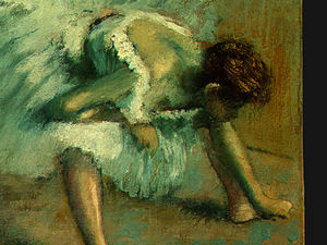 Edgar Degas - vor dem ballett , detalj 5 , ng washington