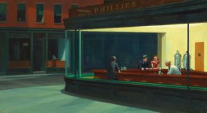Edward Hopper - Nighthawks , das art institute of chicago , Chica