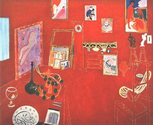 Henri Matisse - Rot Studio ( L'Atelier Rouge ) , moma ny