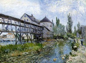 Alfred Sisley - Provencher's mühle bei Mehr t , museum bo