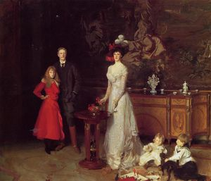 John Singer Sargent - sir george sitwell , Dame Sitwell und familie