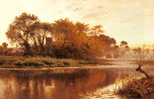 Benjamin Williams Leader - The Last Gleam, Wargrave on Thames