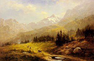Benjamin Williams Leader - Wengen Alpen, am Morgen in der Schweiz