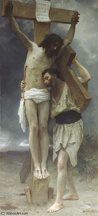 Mitgefühl ! von William Adolphe Bouguereau (1825-1905, France)