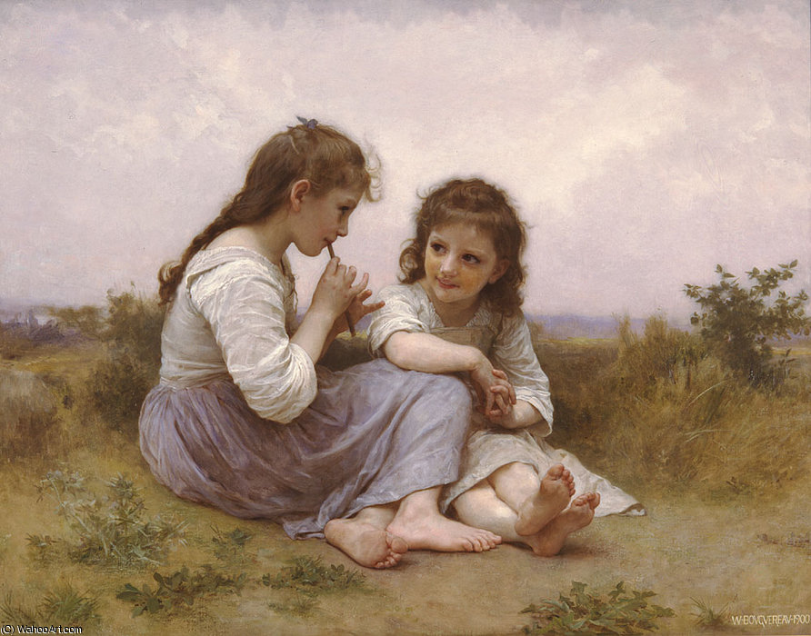 Idylle enfantine von William Adolphe Bouguereau (1825-1905, France)