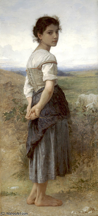 Jeune bergere von William Adolphe Bouguereau  (bestellen Schöne Kunst fine art print William Adolphe Bouguereau)