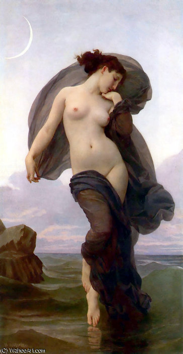 Le crepuscule von William Adolphe Bouguereau (1825-1905, France)