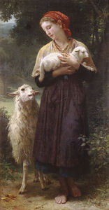 William Adolphe Bouguereau - das neugeborene Lamm