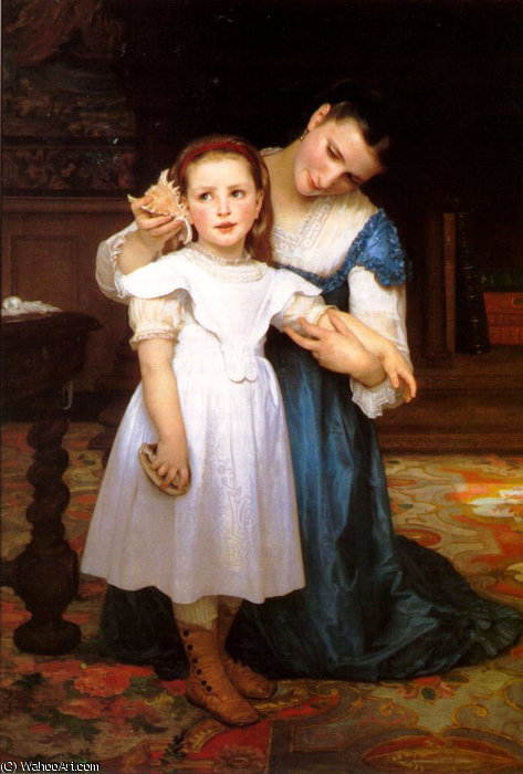 Die Muschel von William Adolphe Bouguereau (1825-1905, France)