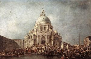 Francesco Lazzaro Guardi - Der Doge in der Basilika von La Salute