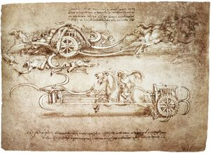 Leonardo Da Vinci - engineering-Assault streitwagen mit sensen