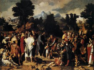 Lucas Van Leyden - Paintings-Christ Abheilend der blind