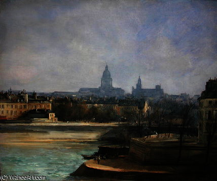 Ile de la Cite von Antoine Vollon (1833-1900, France)