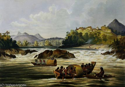 Brazilian Fort St. Gabriel auf dem Rio Negro von Charles Bentley (1805-1854, United Kingdom)