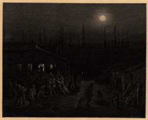Paul Gustave Doré - London untergebracht docklands