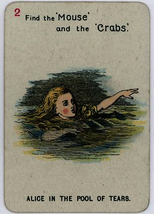 Alice im pool of tears von John Tenniel (1820-1914, United Kingdom)